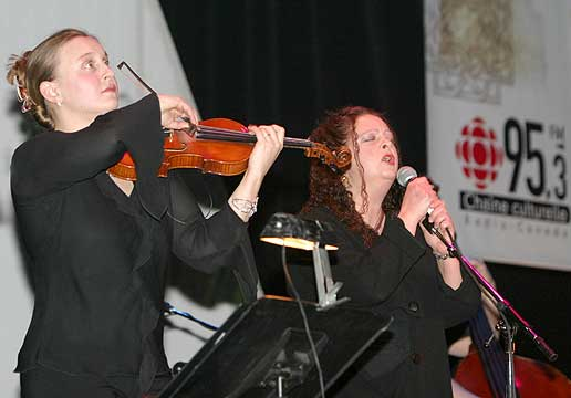 Kattialine Painchau and Singer-songwriter Lynn Vallières