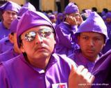 sunglasses in the procession, antigua, guatemala