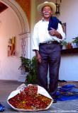 man at the door, antigua, guatemala