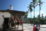 main square in Copan Village, notice a gunman