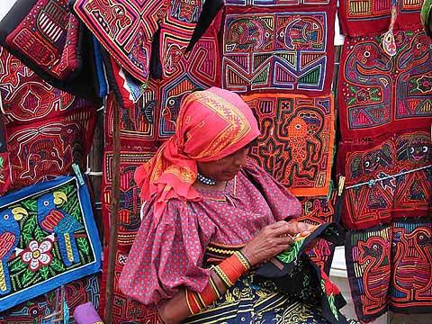 San Blas Kuna Indian Sewing 1