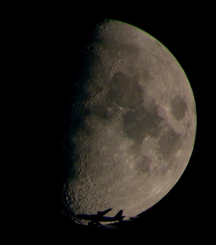 Air Refueler in front of Moon