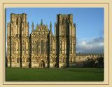 The difference the sun makes! Wells Cathedral