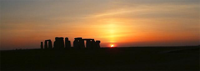 Stonehenge sundown (1944)