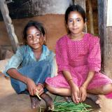 Lalitha and Mosini Peeling Stringbeans