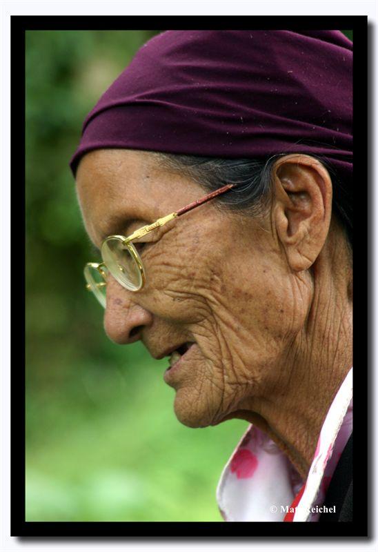 Bhutia Womans Profile, North Sikkim