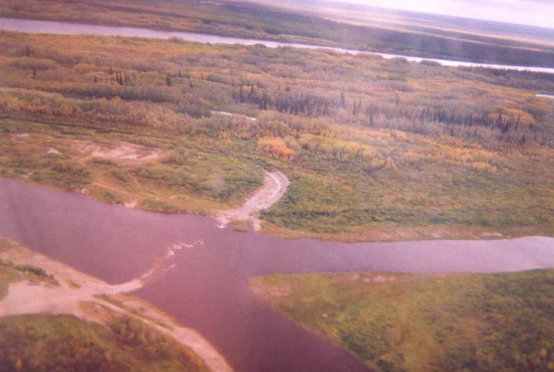 Aerial view of rapids Attawapiskat