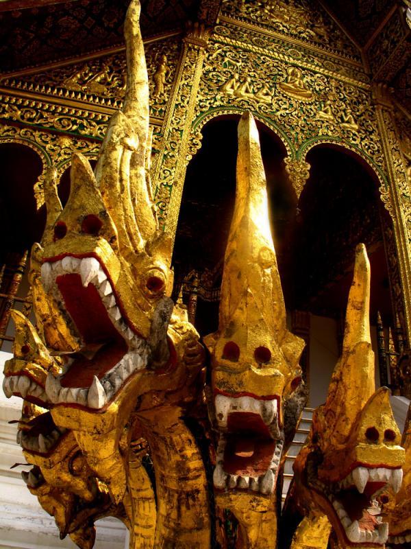 Four Nagas, Luang Prabang, Laos, 2005