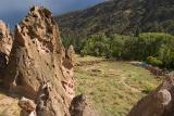 Bandelier - from up the Cliffs