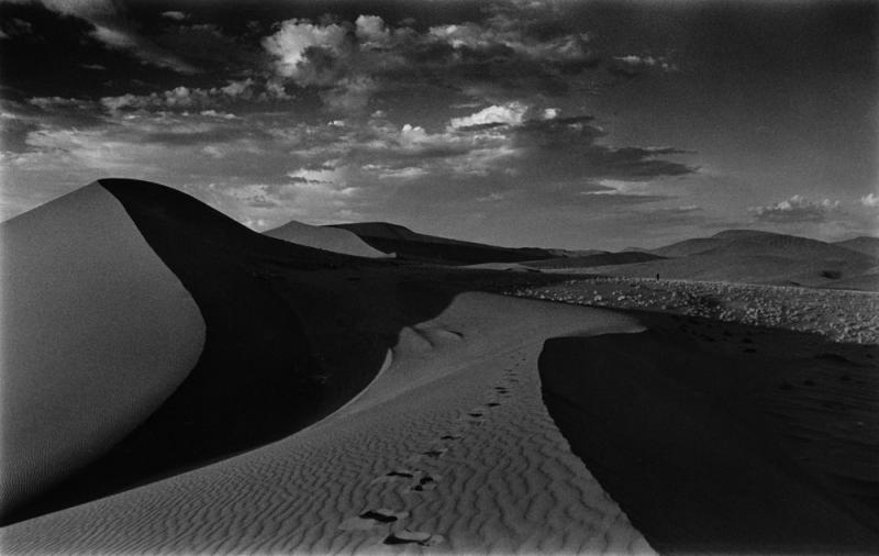 walking through sand