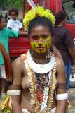 Girl wearing Kina shell