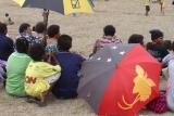 PNG Flag on the umbrella