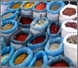 Street market spice stall