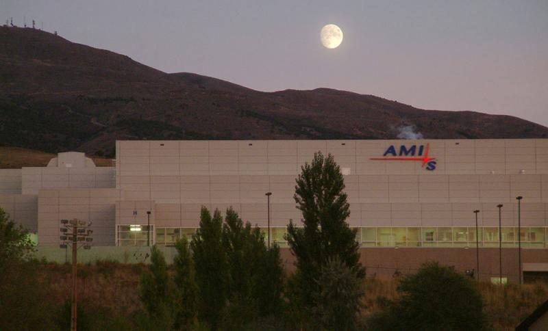 Moonrise over AMI Semiconductor Factory