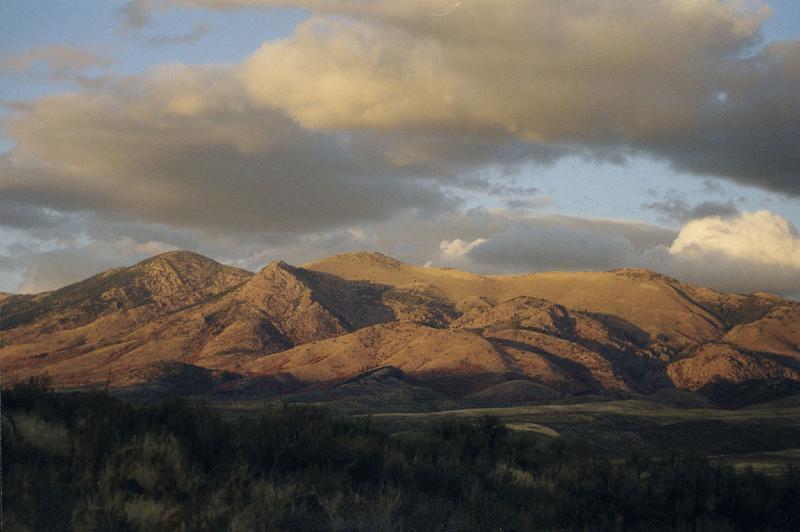 Mountains north of McCammon, near Pocatello