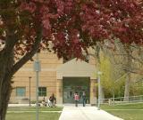 Walkway to Physical Sciences Bldg., Idaho State University, Pocatello, Idaho
