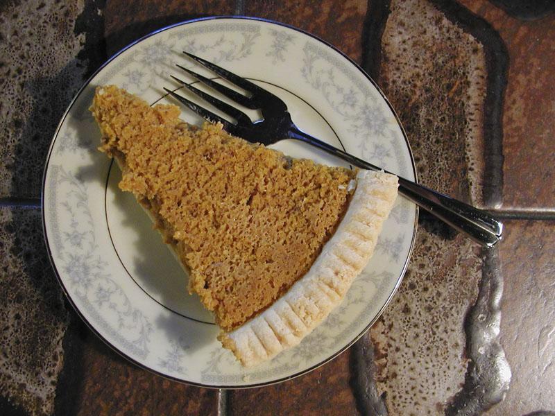 Pumpkin Pie, made by photographer