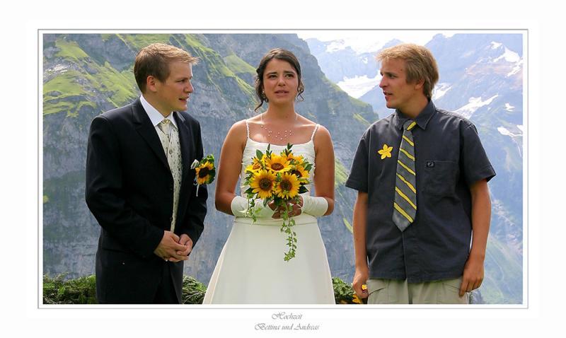 Bräutigam - Braut - Bruder des Bräutigam