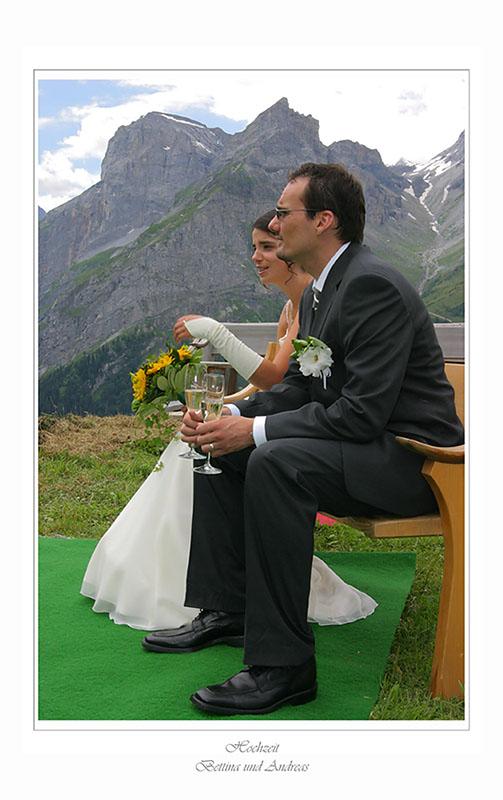 Braut und Brautführer