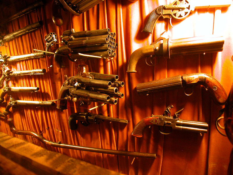A Large Exotic Gun Collection.
