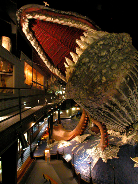 Giant whale diaorama.