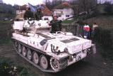 British Scimitar light tank