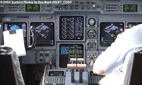 2004 - USCG C-37A Gulfstream G-V CG-01 cockpit - Coast Guard stock photo #9187