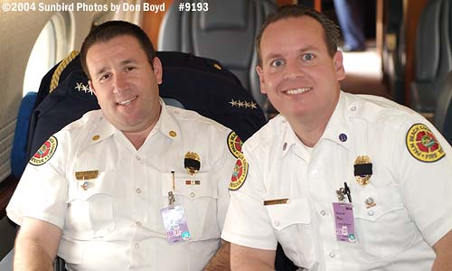 2004 - USCG C-37A Gulfstream V CG-01 - PBI Battalion Chief (LT, USCGR) Mike Arena and Captain Tony Tozzi onboard - photo #9193