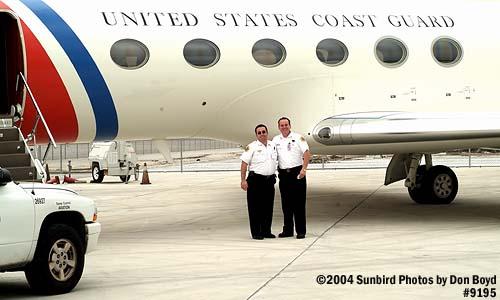 2004 - USCG C-37A Gulfstream V CG-01 - PBI Battalion Chief (LT, USCGR) Mike Arena  and  Captain Tony Tozzi - photo #9195