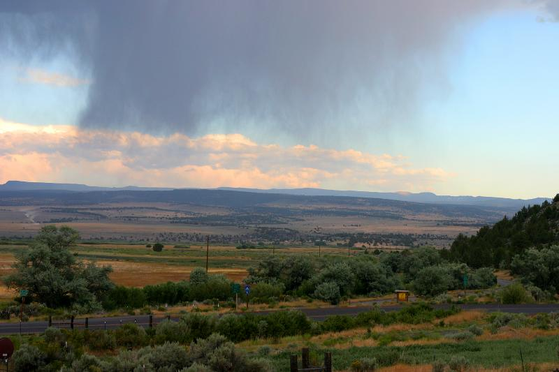 Sunset Storm from Frenchglen