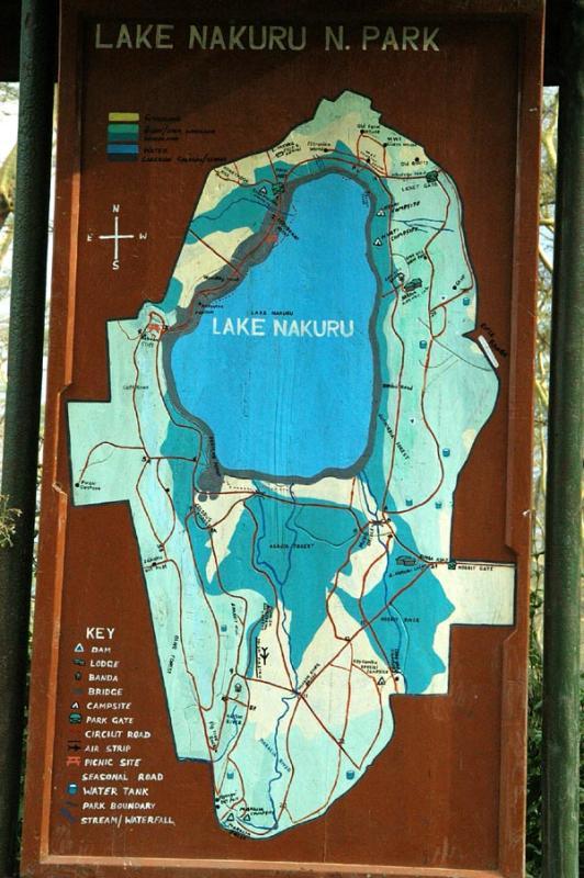Map of Lake Nakuru National Park