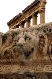 Carved lion water spout from the top of the Temple of Jupiter