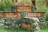 The campground at Makalia Falls is 24km from the main gate