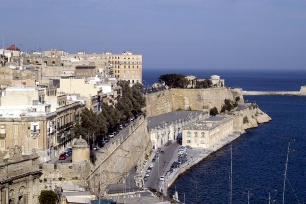 Southern ramparts of Valletta