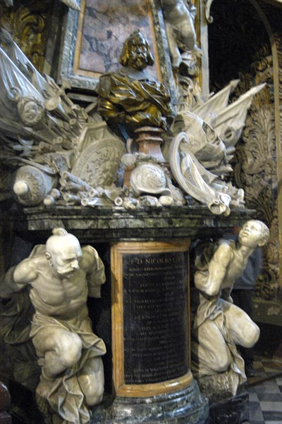 Tomb with Ukrainian Cossack and African slave, Cathedral of St. John
