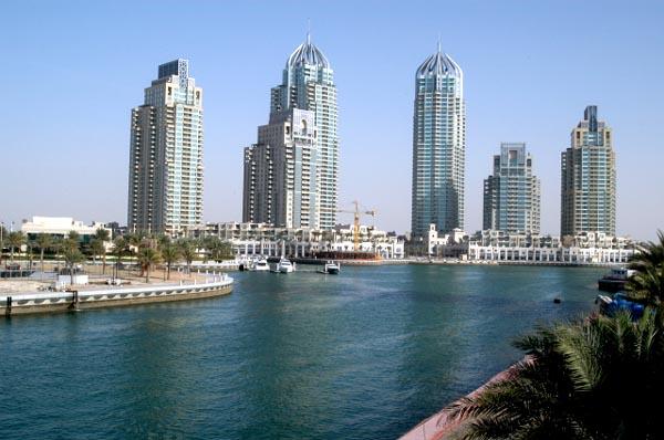 Dubai Marina, a huge new residential area