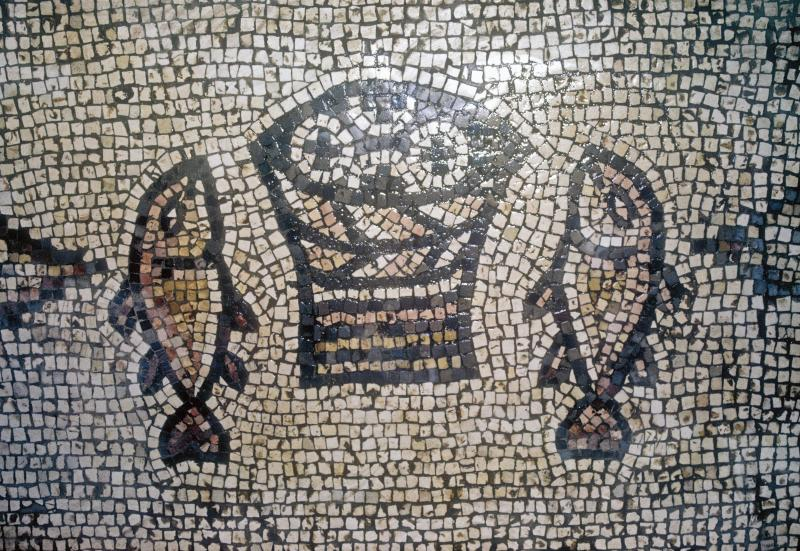 Mosaic of Peter Fish Commemorating the Feeding of the 5000