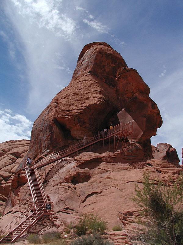 Stairway to Atlatl Rock