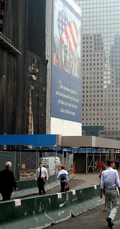 New York, building damged on 911