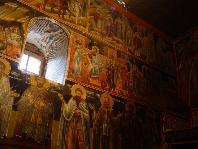 ...and old frescoes.