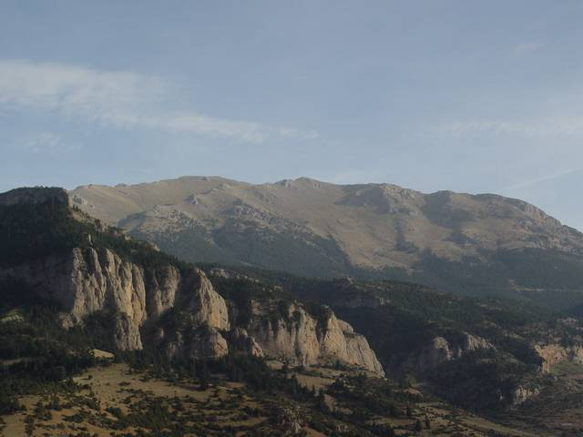 ...facing the Ziria High Peak.