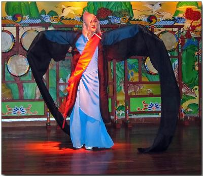 Korean folk dancer