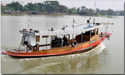 River tug boat - Chao Phraya River near Bangkok