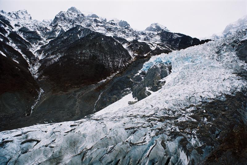 YongMing Glacier - Starting the climb