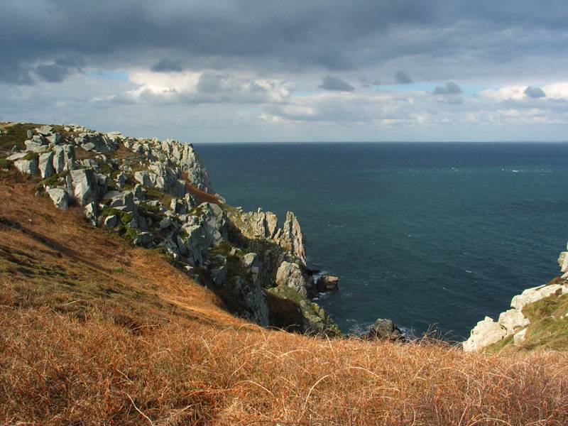 View from  the Van cliff Bretagne