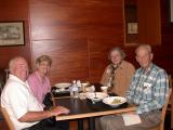 Paul/Millie Osterle, Rita/Andy Barada enjoy lunch and fellowship