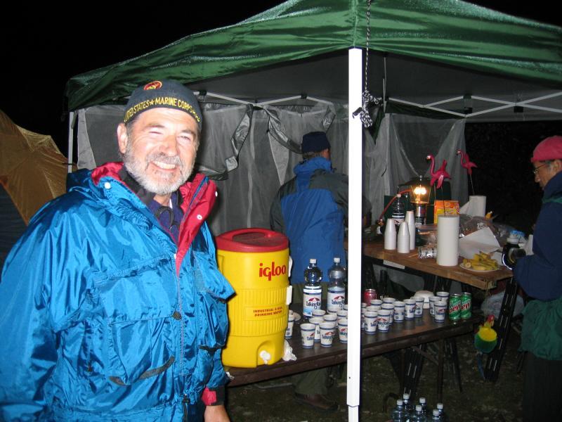 KEECHELUS RIDGE<br>Mile 59.9</br><br>Steve Fredrickson mans the aid station</br>