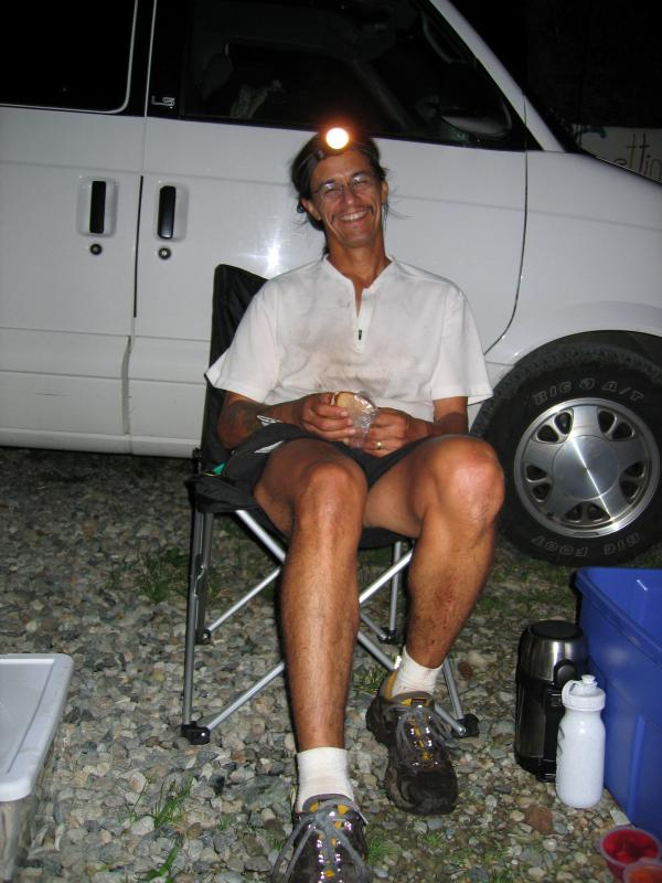 MINERAL CREEK<br>Mile 72.5</br><br>Tony C takes a break</br>