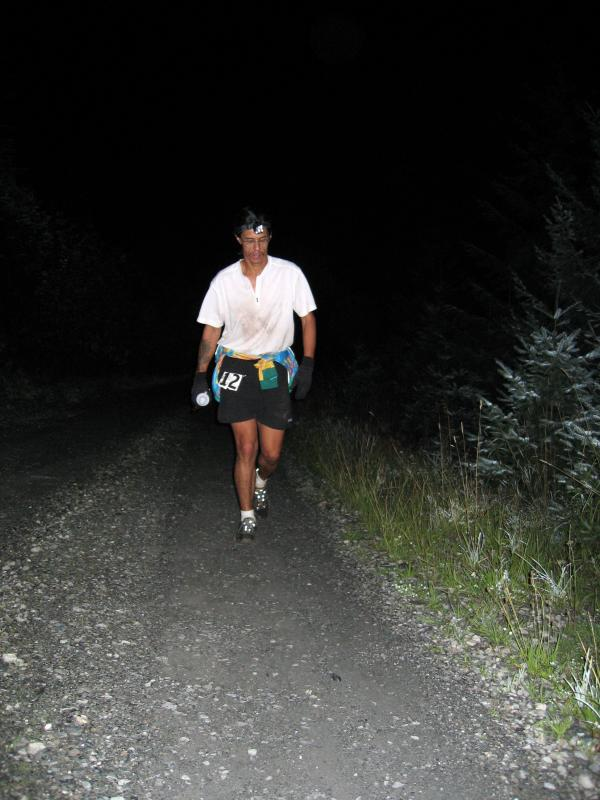 Tony C starts the 7 mile climb to No Name Ridge