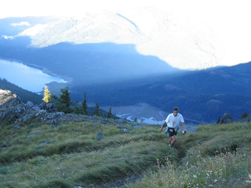 Tony C climbs up Thorpe Mt.